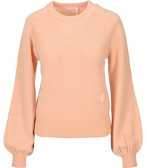 chloe embroidered cashmere sweater