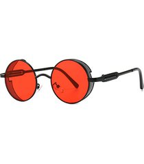 punk hollow out frame round sunglasses
