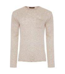 blusa masculina tricot pull - bege