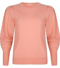 esqualo sweater coral pleats sleeve