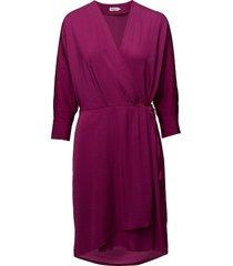 slinky wrap dress korte jurk roze filippa k