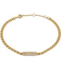 ava nadri 18k gold tone pave bar bracelet