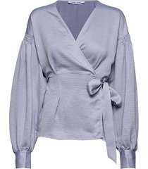merrill blouse 11242 blouse lange mouwen blauw samsøe & samsøe