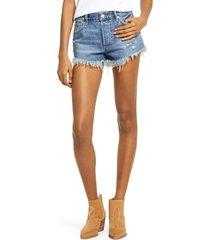 women's free people loving good vibrations shorts, size 27 - blue