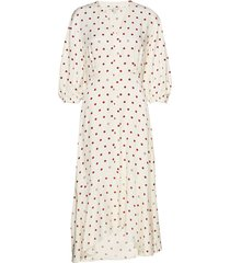 vivian jurk knielengte crème dagmar