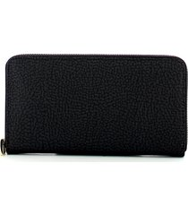 borbonese womens black wallet