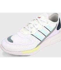 tenis lifestyle blanco-multicolor adidas originals zx 2k florine