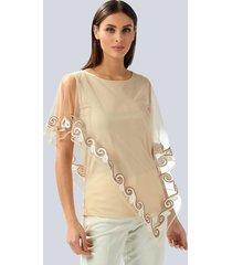 blouse alba moda beige