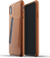 etui full leather wallet iphone xs max tan