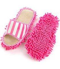 1 par de zapatillas de limpieza de microfibra de piso piso limpiar zap
