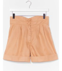 womens the dart of expression tailored shorts - sand
