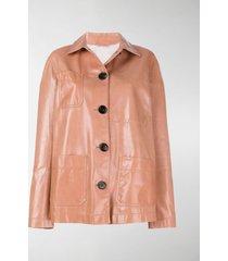 bottega veneta button-down oversized jacket