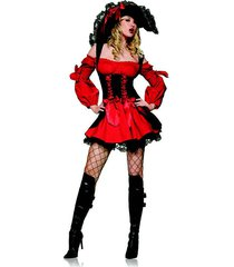 leg avenue sexy swashbuckler vixen pirate wench costume + optional pirate hat