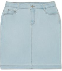 charter club boca wash jean skirt, created for macy's