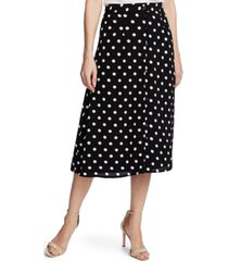 cece disco dot-print midi skirt