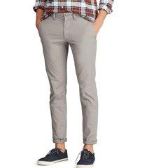 pantalon stretch slim fit cotton gris polo ralph lauren