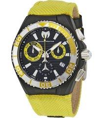 reloj technomarine amarillo modelo tm-1151re para hombres, colección cruise