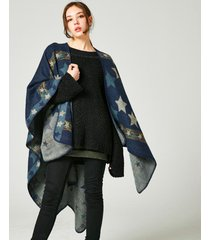 unique star thickening winter shawl winter pashmina cape outerwear