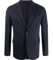 emporio armani blazer com broche na lapela - azul