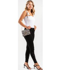 gennie high rise pearl hem jeans - black