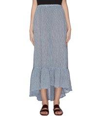 'nicole' ruffle long skirt