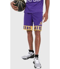 pantaloneta morada-amarillo nba los angeles lakers