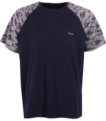 polera unafraid cotton t-shirt s/s azul noche lippi