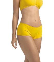 calcinha calã§a short ultraleve demillus 55600 amarelo ouro - amarelo - feminino - dafiti