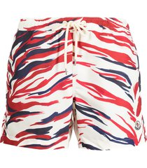 moncler graphic print swim shorts - neutrals