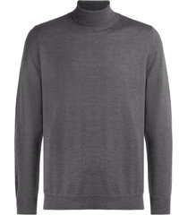 a.p.c. turtleneck sweater made of anthracite gray merino wool