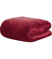 cobertor solteiro kacyumara blanket 600 marsala - vinho - dafiti
