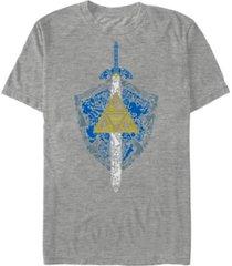 fifth sun men's nintendo zelda hylian shield element icons short sleeve t-shirt