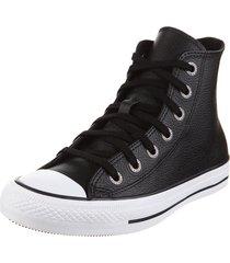 zapatilla negra converse chuck taylor all star leather