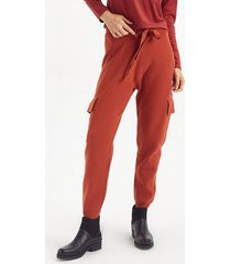 pantalón rojo portsaid knitted full needle donna