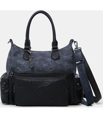 combined shoulder bag - blue - u