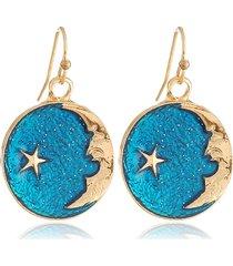 orecchini pendenti vintage orecchini a cerchio blu cielo luna modello stella orecchini gioielli etnici per le donne