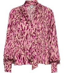 lynda blouse blouse lange mouwen roze twist & tango