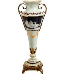 vaso decorativo de porcelana e bronze bengbu