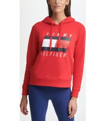 tommy hilfiger sport hoodie with embroidered logo