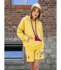 szorty dresowe fio - butterfly yellow