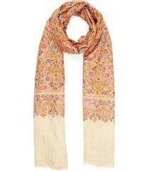 paisley embroidered pashmina scarf