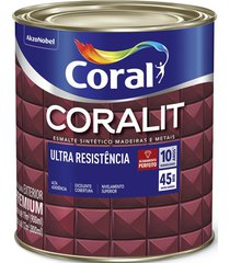 tinta coral esmalte coralit, alto brilho, creme, lata 0,9 litros