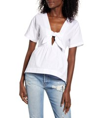 women's english factory knotted high/low top