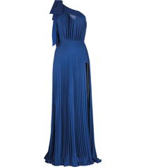 elisabetta franchi celyn b. one-shoulder long dress