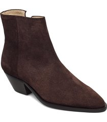 hunter ankle boot suede 195 shoes boots ankle boots ankle boot - heel brun royal republiq