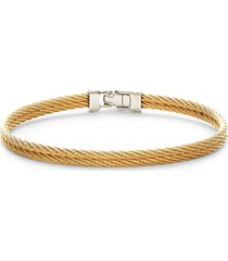 alor women's 18k white gold & stainless steel cable bracelet