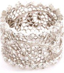 'ornato eternelle' diamond 18k white gold openwork ring