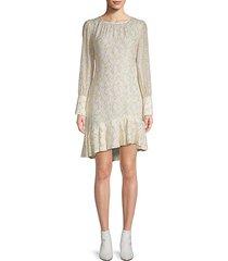 silk-blend asymmetrical sheath dress