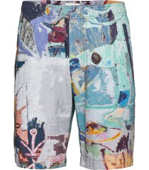 alfred jon pilkington shorts shorts casual multi/mönstrad wood wood