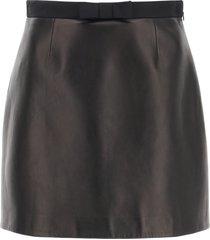 miu miu nappa mini skirt with bow